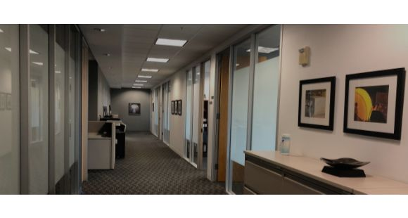 801 Warrenville - hallway to offices