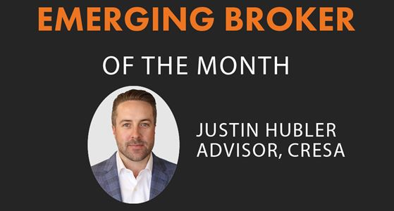 Justin Hubler is the Emerging Broker of the Month