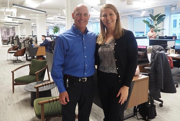 Cresa CEO Jim Underhill and principal Christie Minch, a workplace strategy expert who worked on the firm's new D.C. headquarters