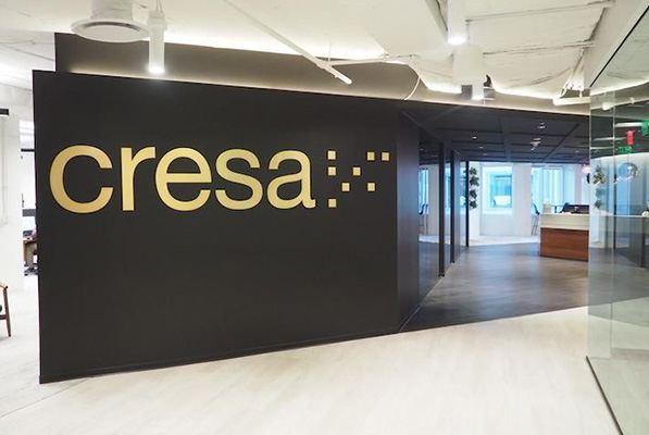 The entrance to Cresa's headquarters office at 1800 M St. NW