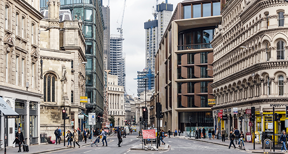 City street London Financial District
