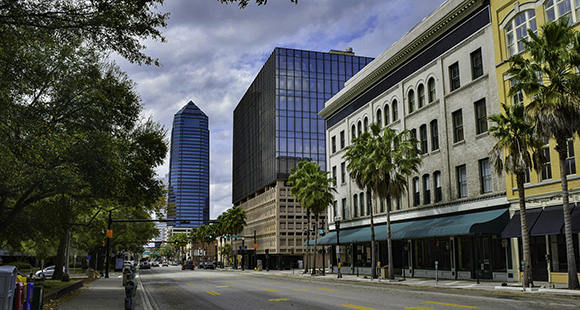 Downtown Jacksonville, FL City Street