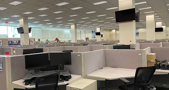 Interior Office Cubicles