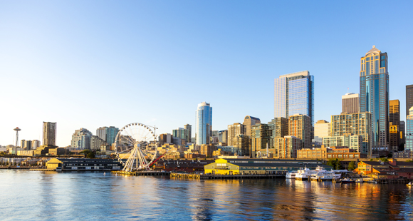 Seattle skyline and waterfront